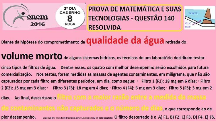 CURSO DE MATEMÁTICA ENEM 2016 QUESTÃO 140 PROVA ROSA RESOLVIDA EXAME NAC... https://youtu.be/M-R_oX1yYjc