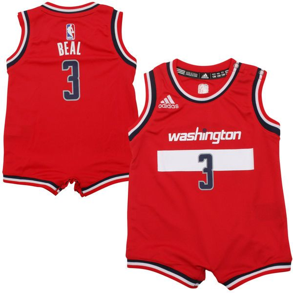 Bradley Beal Washington Wizards adidas Infant Replica Jersey Romper - Red - $27.99