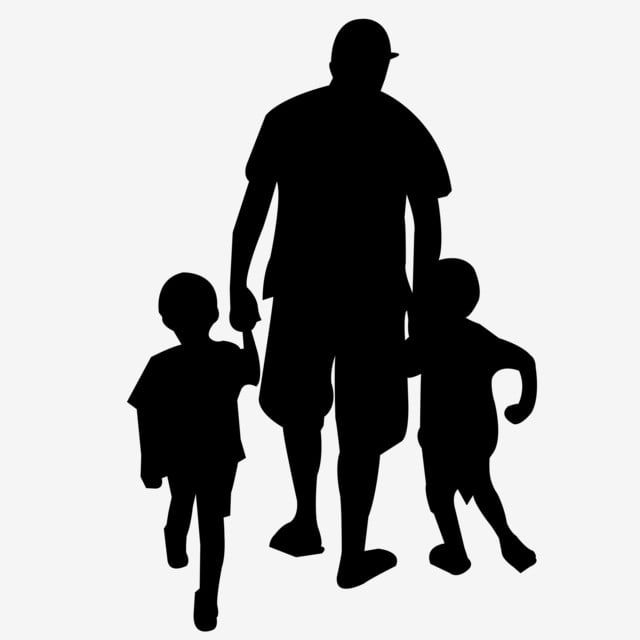 Father With Two Sons Characters Silhouette Vector Father Son Two Sons Png Transparent Clipart Image And Psd File For Free Download Silhouette Vector Tattoo For Son Father Son Tattoo