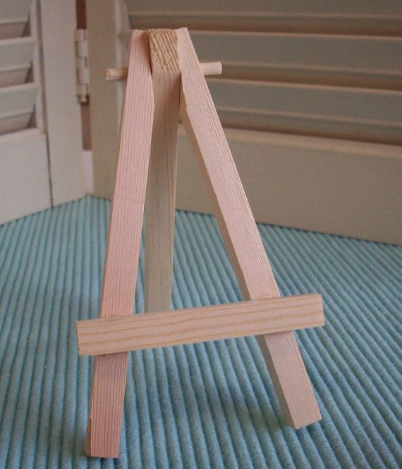 Small Easel Natural Wood Tabletop Mini For Art Aceo Canvas Tiles Place Card Holder Table Number Display