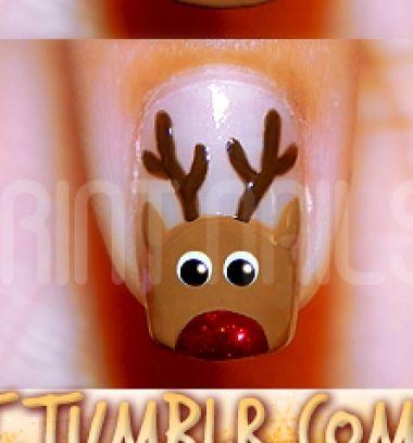 DIY Rudolph reindeer (christmas) manicure / Rénszarvasos körmök (manikűr) /  Mindy -  creative craft ideas