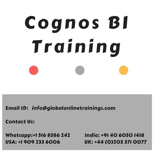 Cognos bi provides tool for data warehousing and data modelling, through the report development and advanced visualization. Cognos bi training provides you, the knowledge regarding the comprehensive and feature rich business analytics product suites.