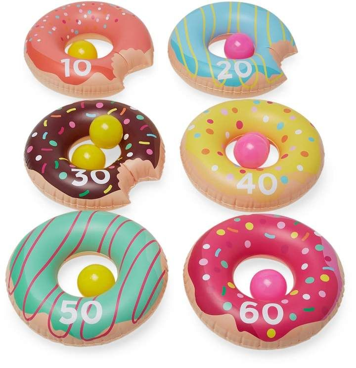 Blow Up Pool Party Favor Toys Jumbo Frosted Doughnut Shaped Inflatables 4