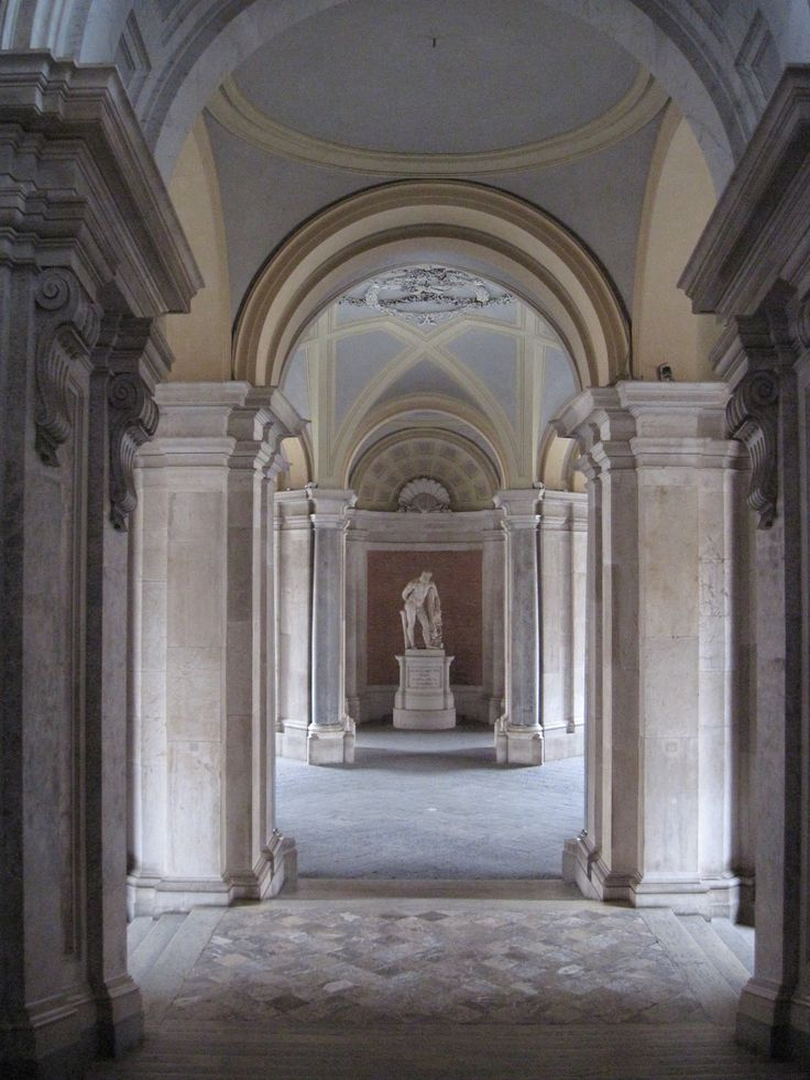 A detail of the entrance of the Reggia di Caserta