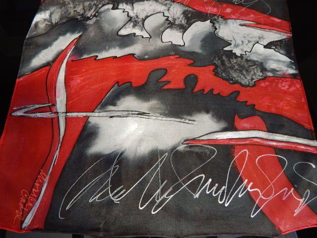 Silk painting , handmade Monica Cadre - Studio MAWU,
