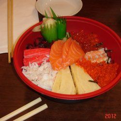 Atari-Ya Sushi Bar - London, United Kingdom. Delux Chirashi (8.00gbp)