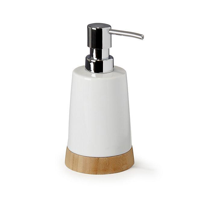 Lanca Distributeur de savon en céramique et bambou