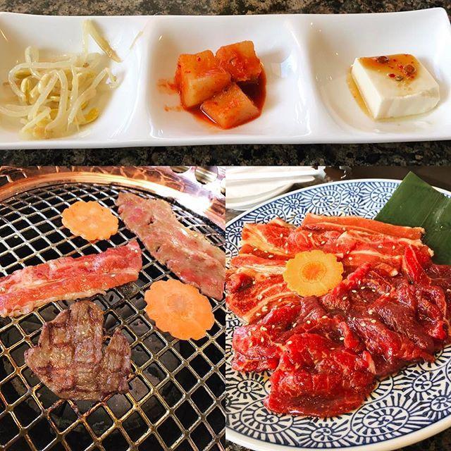 * * 焼肉ー! * いやあ、肉って美味いよねぇ。 焼肉サイコー\( ´ω` )/ * カルビとロースのセットなり コチュジャンも美味い! * 塩分的には レモンとかで頂きたいけど。 * * #焼肉 #肉 #ロース #カルビ #キムチ #豆腐 #ナムル #ランチ #lunch #美味しい #にんじん #サラダ #スープ #付いてきた #ご飯 #コチュジャン