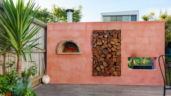 How to make a pizza oven feature wall