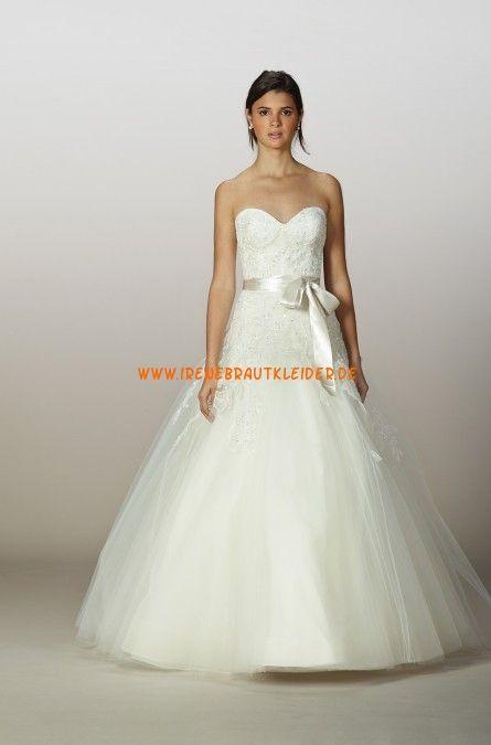 A-linie Glamouröse Hochzeitskleider aus Softnetz