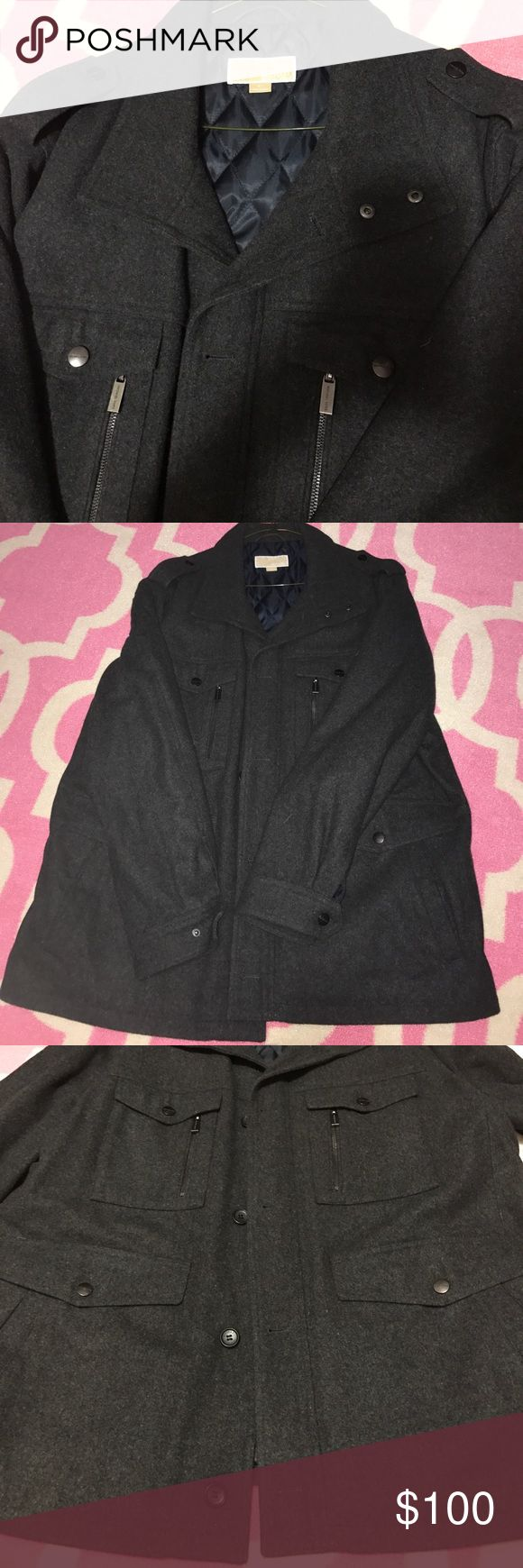 Men's Michael Kors Coat Size 2x Gray michael kors coat size 2x. Worn twice in excellent condition. My husband did the gastric bypass surgery so never got to wear any of his clothes more than a few times. Its been dry cleaned and ready to go! Feel free to ask any questions or make an offer. Michael Kors Jackets & Coats