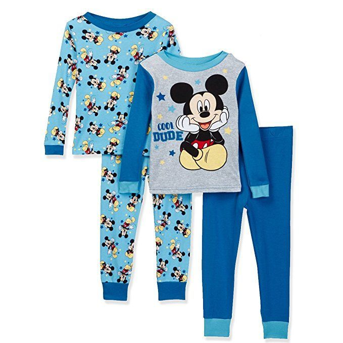 Get Ready For Bedtime In This Mickey Mouse Boys Cotton Pajama Set This Set Includes Two Pairs Of Pa Little Boy Outfits Cute Baby Clothes Kids Dress Collection