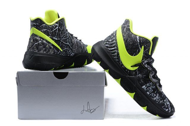 2e75398ad687 Nike Kyrie 5 Black Volt Grey Men s Basketball Shoes Irving Sneakers ...