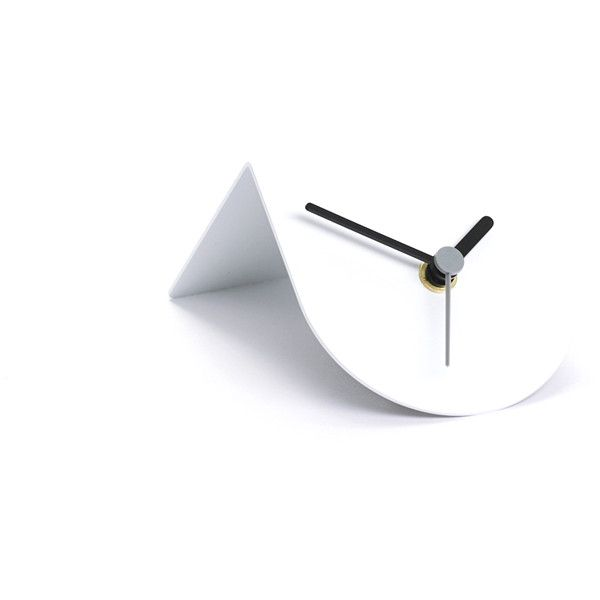 ByShop Standard 1/2 Steel Clock - white ($26) ❤ liked on Polyvore featuring home, home decor, clocks, blue, white clock, blue home decor, mantel clocks, blue clock and battery operated clocks