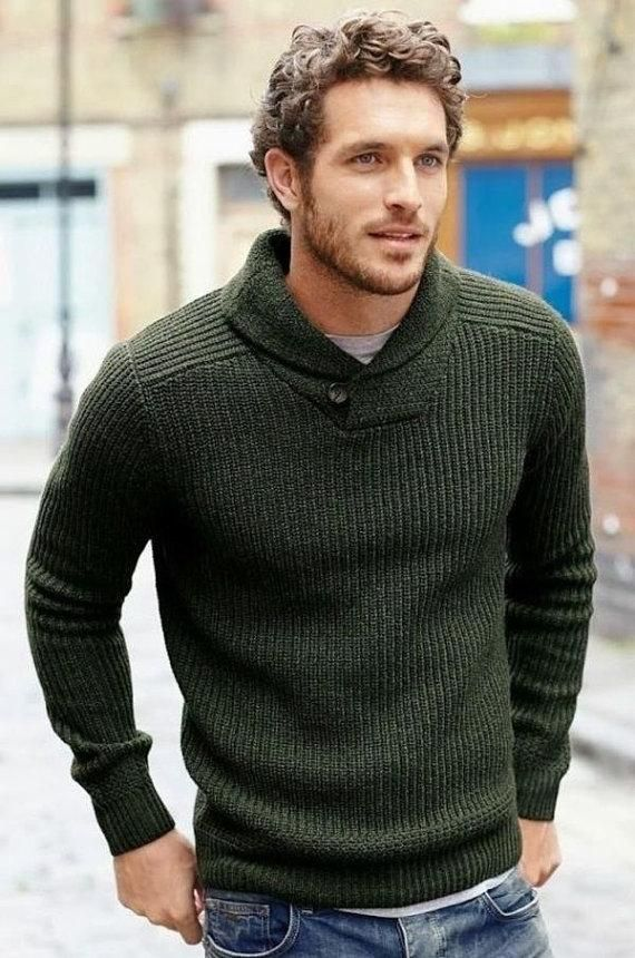 Men's Hand Knit Sweater 108B