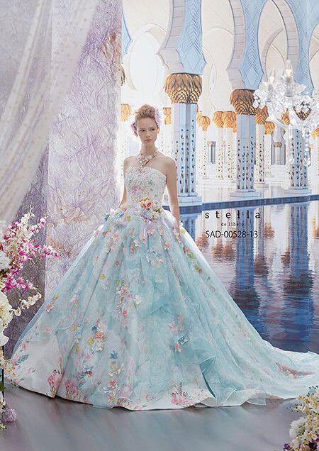 [カラードレス]SAD-528-13 | ブライダルコスチュームみつもと(三重県四日市) | 当店一押しブランドであるステラ・デ・リベロをはじめ、ジル スチュアートなど豊富な数のウェディングドレス、カラードレスをご紹介します。