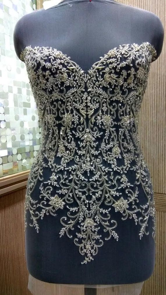 Hand Beaded and Embroidered WEDDING DRESS Bodice In Over 50 Styles - SACHA