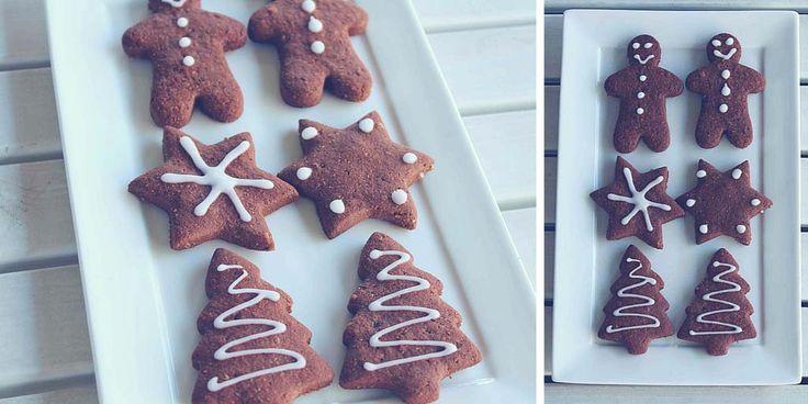Gluten Free Chocolate Gingerbread Cookies - Happy Tummies