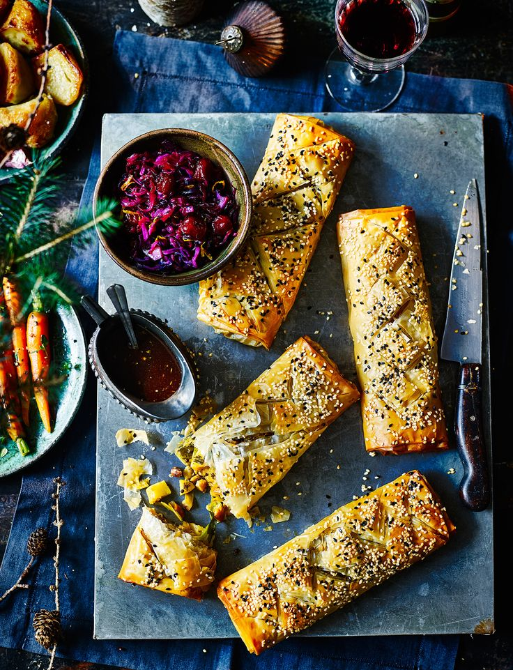 Whip up a batch of spiced parsnip strudels. They'll be perfect for entertaining any veggie guests this festive season