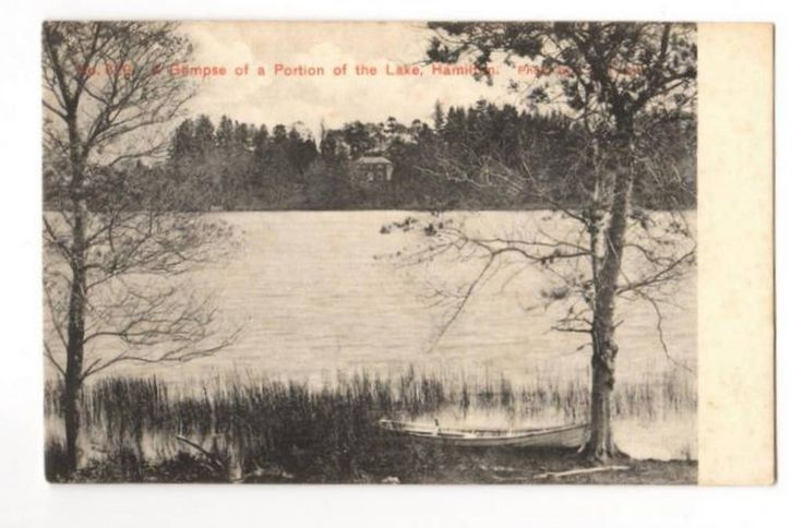 Early Undivided Postcard. Glimpse of a portion of the Lake, Hamilton. - 45883 - Postcard - Postcards Waikato - Postcards New Zealand - Postcards By Country - EASTAMPS