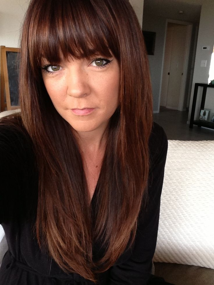 rich brown hair color | Potential Haircuts | Pinterest