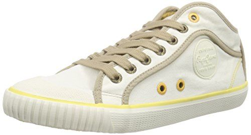 Pepe Jeans London INDUSTRY BASIC16, Damen Hohe Sneakers, Weiß (803OFF WHITE), 40 EU - http://uhr.haus/pepe-jeans/pepe-jeans-london-industry-basic16-damen-hohe-40