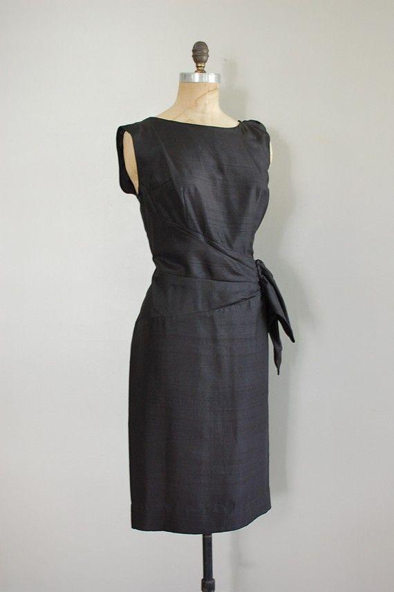 Vintage black dress $68