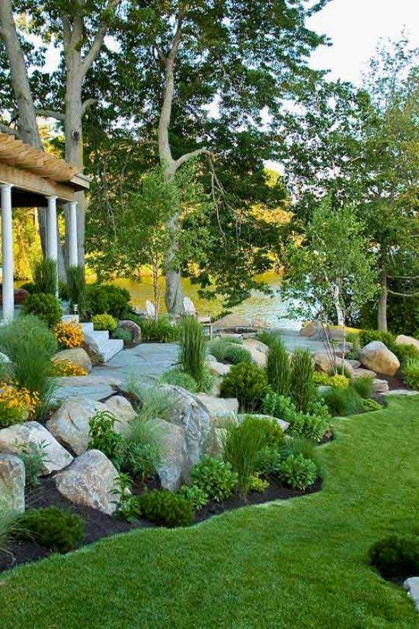Landscape Ideas For Your Home Rock Garden Design Backyard