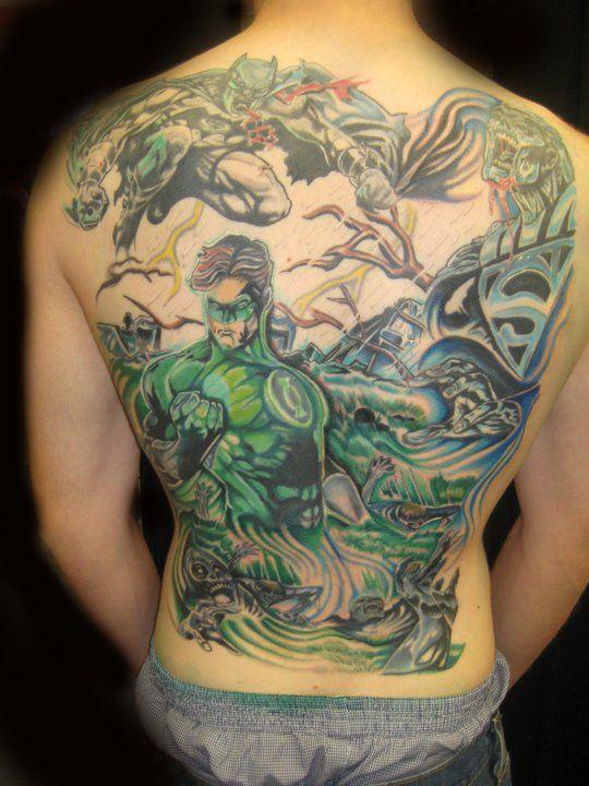 Green lantern tattoo - photo#35