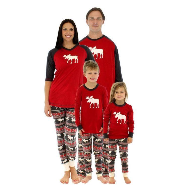 Buy Now! Christmas Family Women  Sleepwear Pajamas Set Striped Cotton Pyjamas Outfits