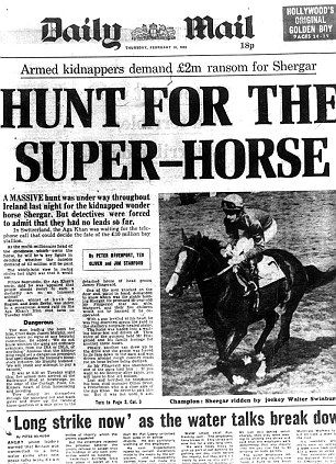 History: How the Daily Mail reported it; one of the many contemporary newspaper accounts of Shergar's disappearance.