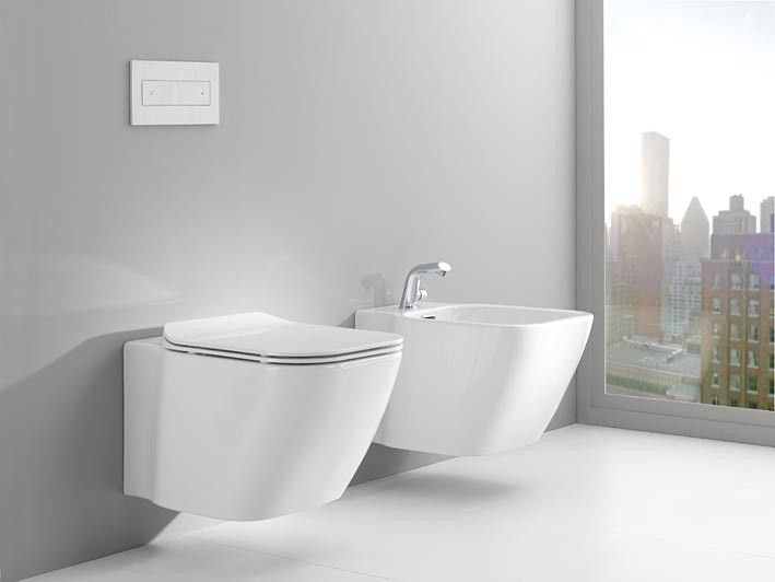wall hung toilets with concealed frame for cistern by noken feel the freedom in design porcelanosa bathrooms - Noken Porcelanosa