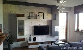 Znalezione obrazy dla zapytania ściana z cegły TV