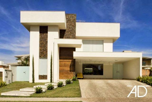 Fachadas de Casas Modernas – Casas sem telhado #pin_it #architeture @mundodascasas See more here: www.mundodascasas.com.br