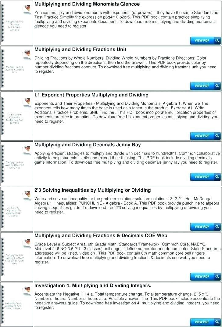 27 Multiplying Decimals by whole Numbers Worksheet