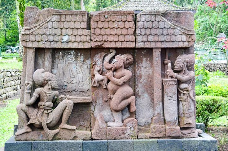 The center panel is a 'chronograph' - Candi Sukuh, Central Java, Indonesia