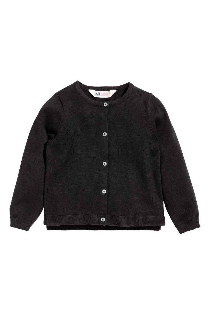 Katoenen cardigan - Zwart - KINDEREN | H&M BE