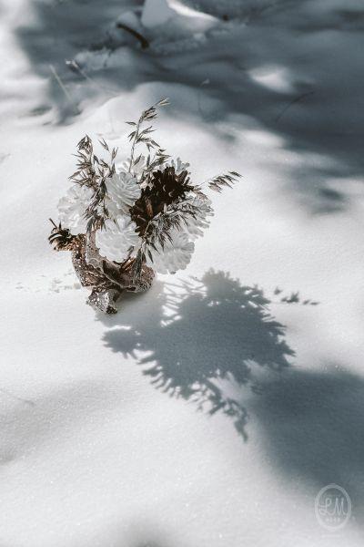 Une inspiration romance en montagne pour un mariage en hiver Image: 17
