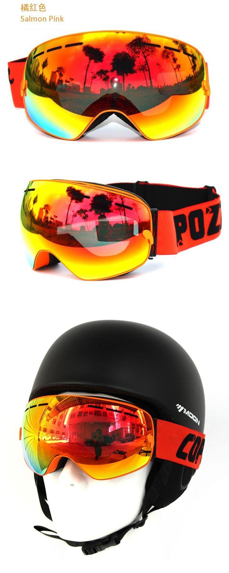 Новый COPOZZ марка профессиональный лыжные очки UV400 анти туман большой лыжная маска очки лыжи сноуборд мужчины женщины снег очки купить на AliExpress