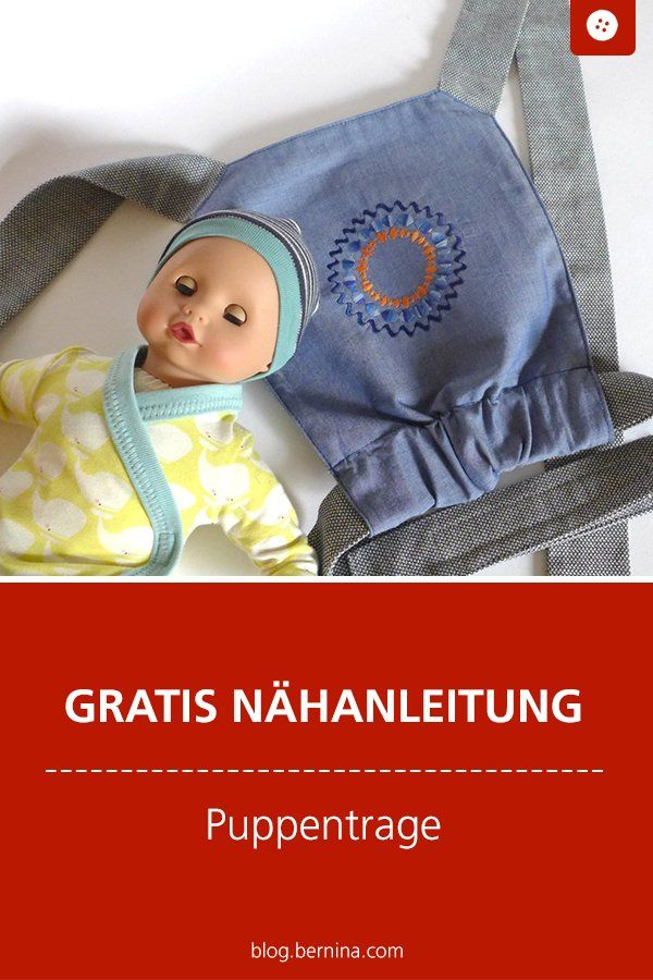 Eine Puppentrage nähen – Anleitung und Schnittmuster – BERNINA Nähmaschinen