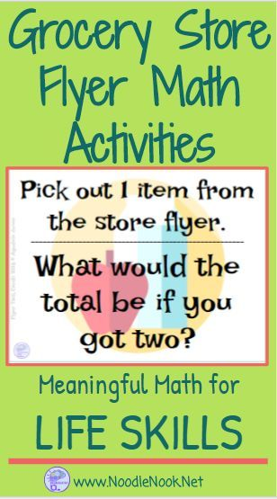 Store Flyer Math Activities- Make Math Meaningful! Great suggestions on how to do this in class!