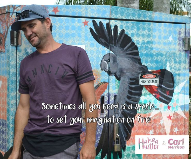 """""""Sometimes all you need is a spark to set your imagination on fire""""- author Carl Merrison finding street art in Mullumbimby NSW."""