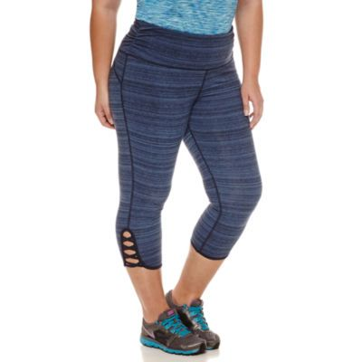 Xersion Jersey Workout Capris Plus - JCPenney