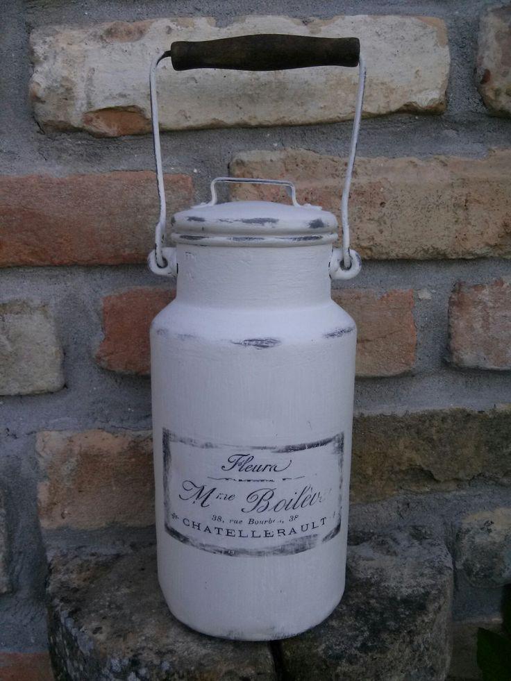 DIY- Vintage milk jug