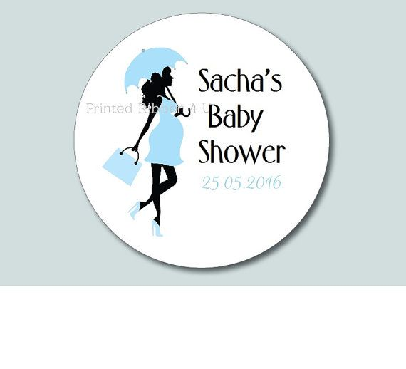 24 Round Personalised Chic Pregnant Mom Baby by PrintedRibbon4U