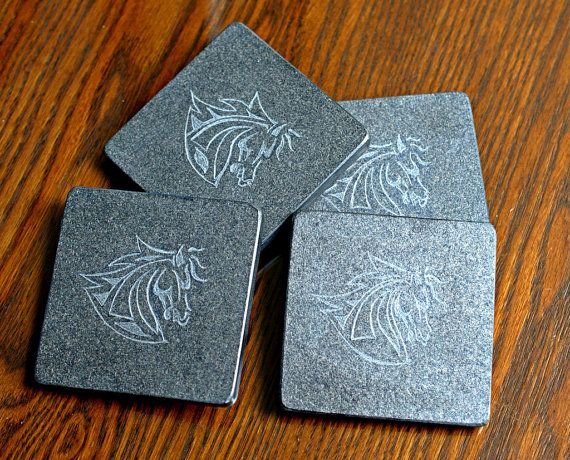 #Natural #Slate stone coasters hand carved fantasy by SAGaStone