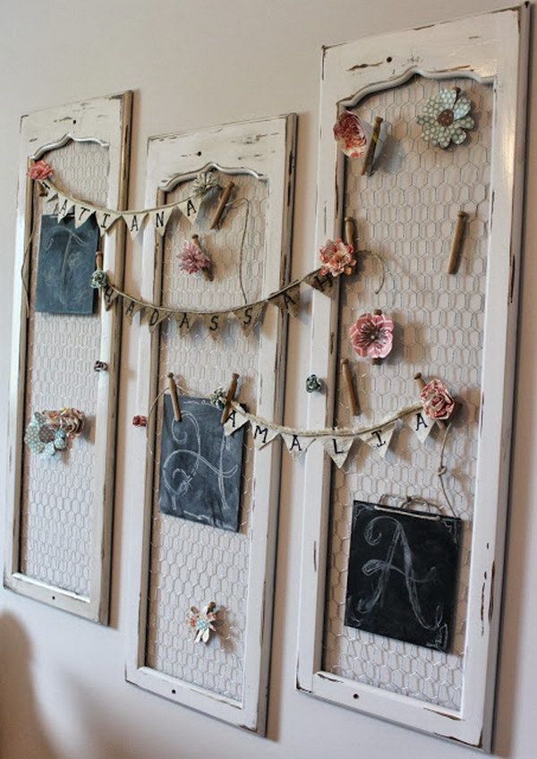 Shabby Chic Old Shutter Wall Decor