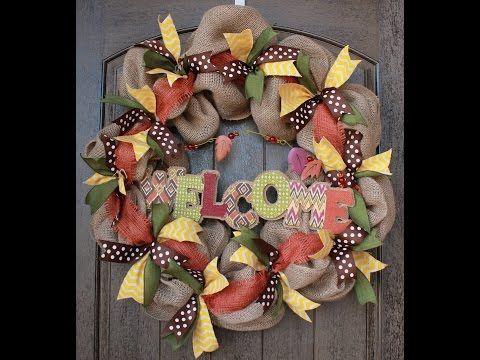 Burlap Wreath Tutorial - YouTube