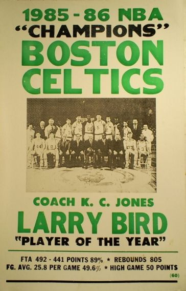 I remember watching this team!!! At the old Boston Garden!