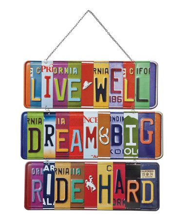 I have several old vanity plates - I may have to play with them to create something like this!